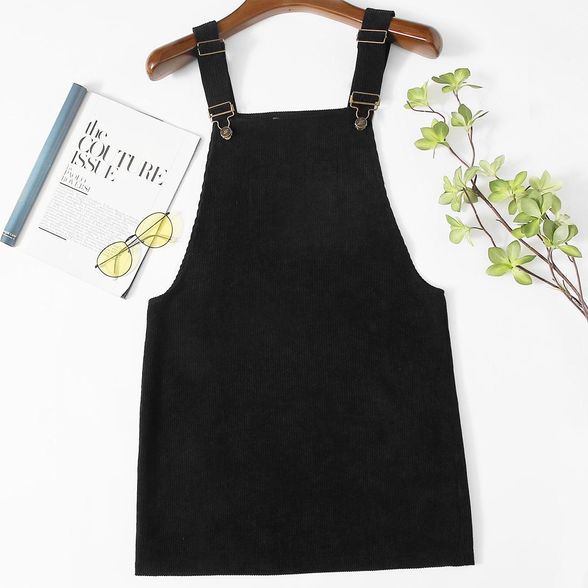 Вельветовое платье-сарафан размера плюс