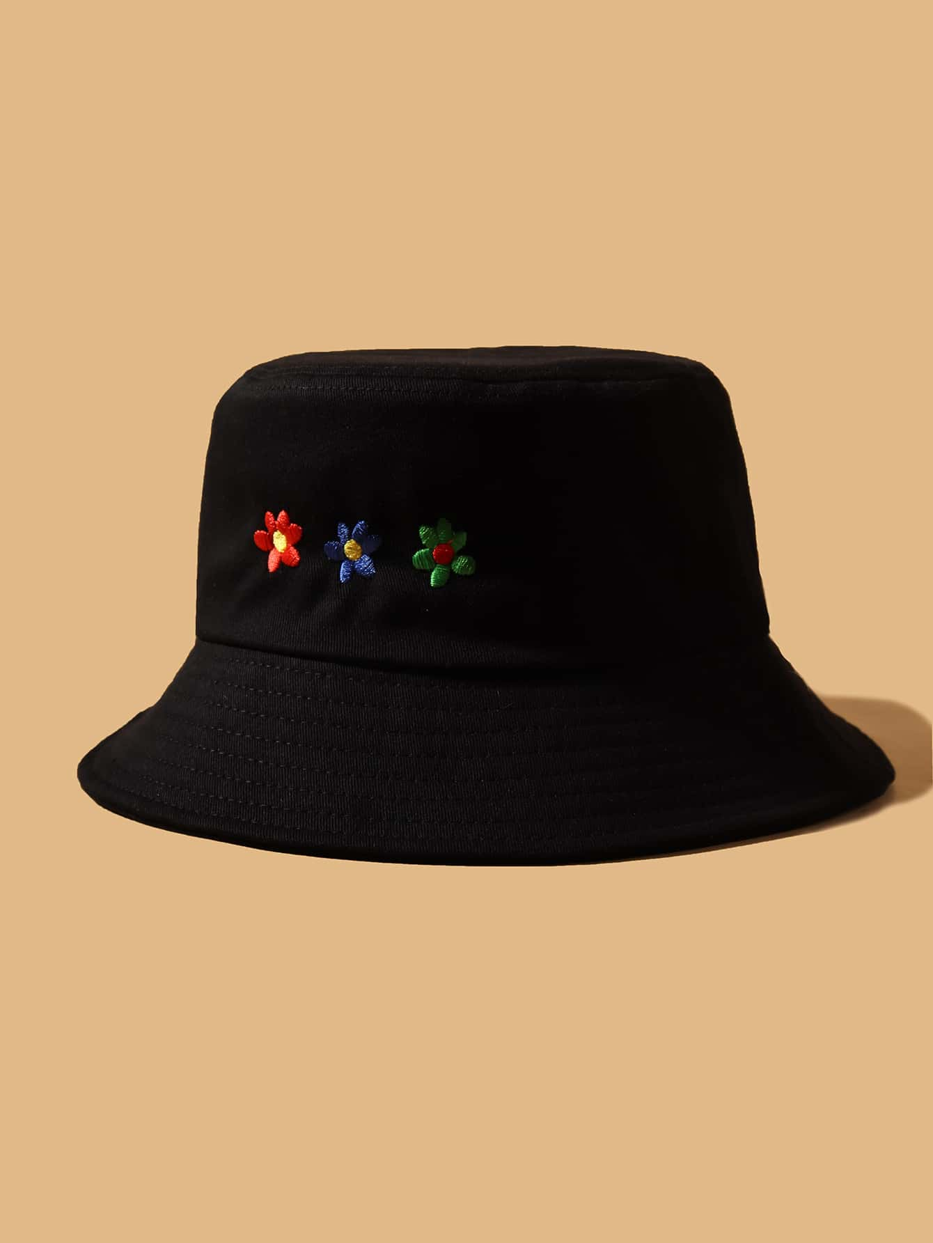 Flower Embroidery Bucket Hat thumbnail