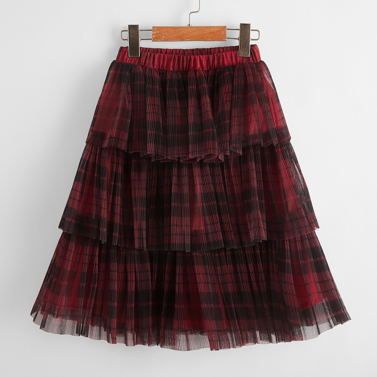 Многослойная сетчатая юбка для девочек