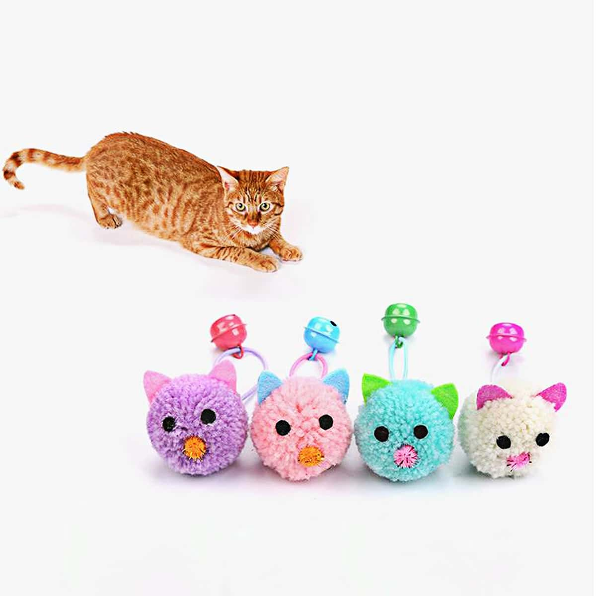 1 Stück Zufällige Farbe Katzenspielzeug in Mausform