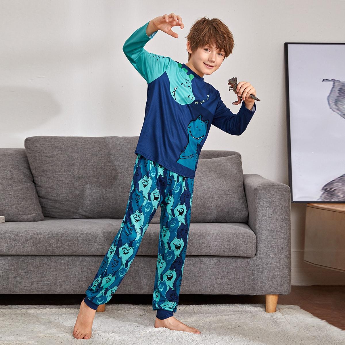 Пижама с мультипликационным рисунком для мальчиков