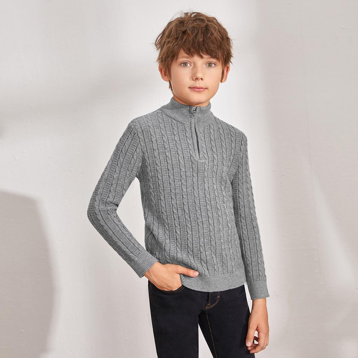 Трикотажный свитер на молнии для мальчиков