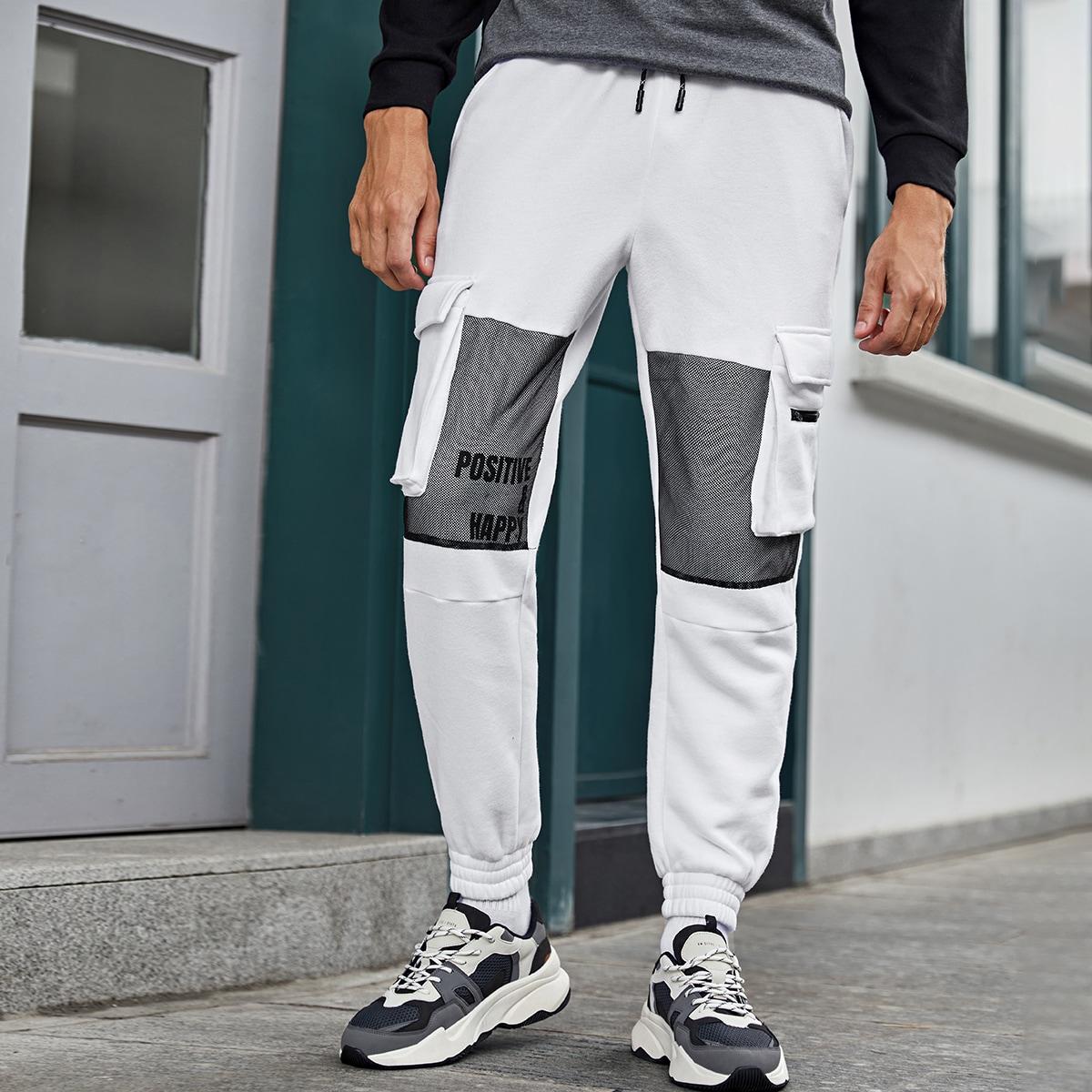 Мужские брюки с карманом и сеткой