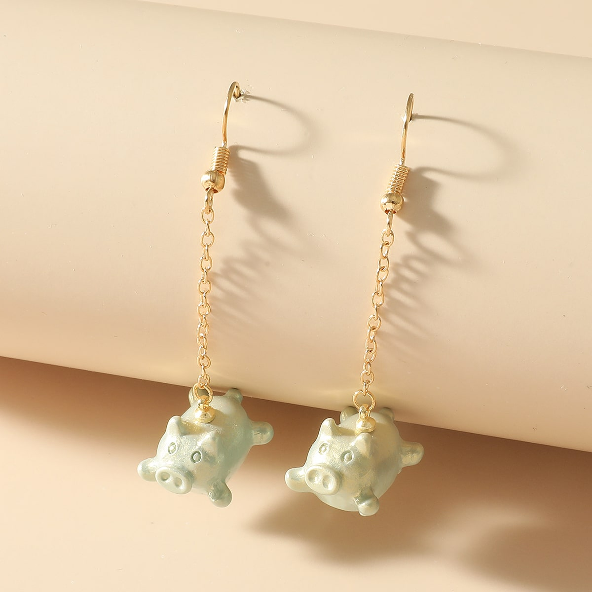 Pig Charm Drop Earrings, SHEIN  - buy with discount