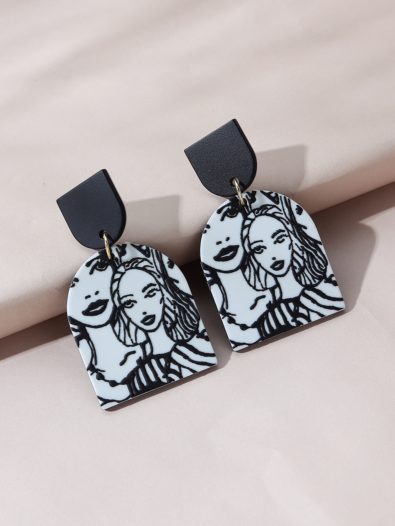 Figure Graphic Drop Earrings thumbnail