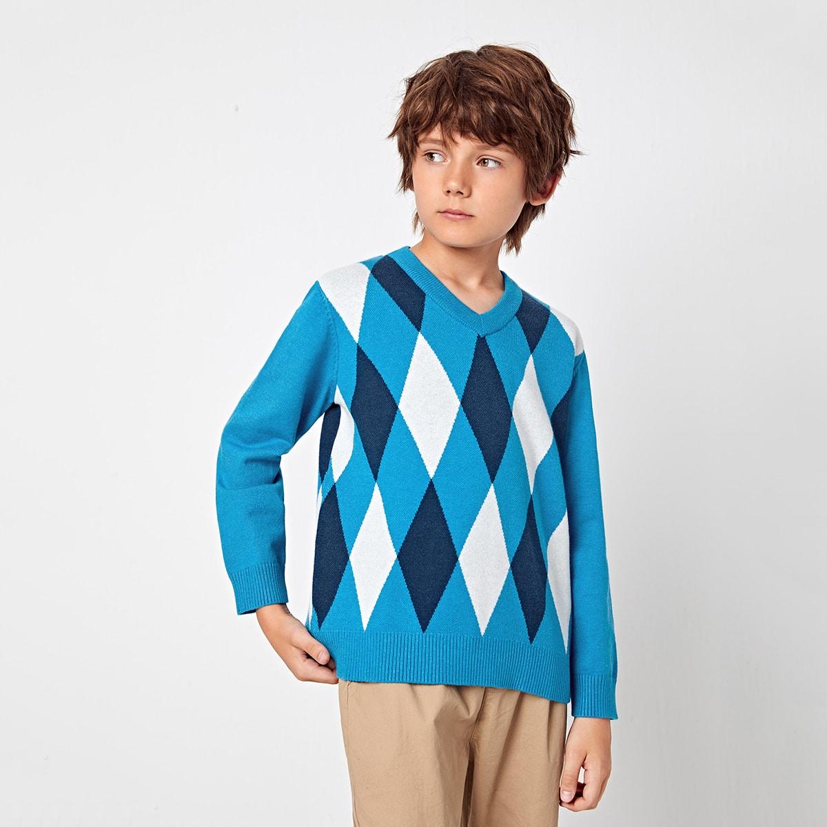 Геометрический Повседневный Свитеры для мальчиков