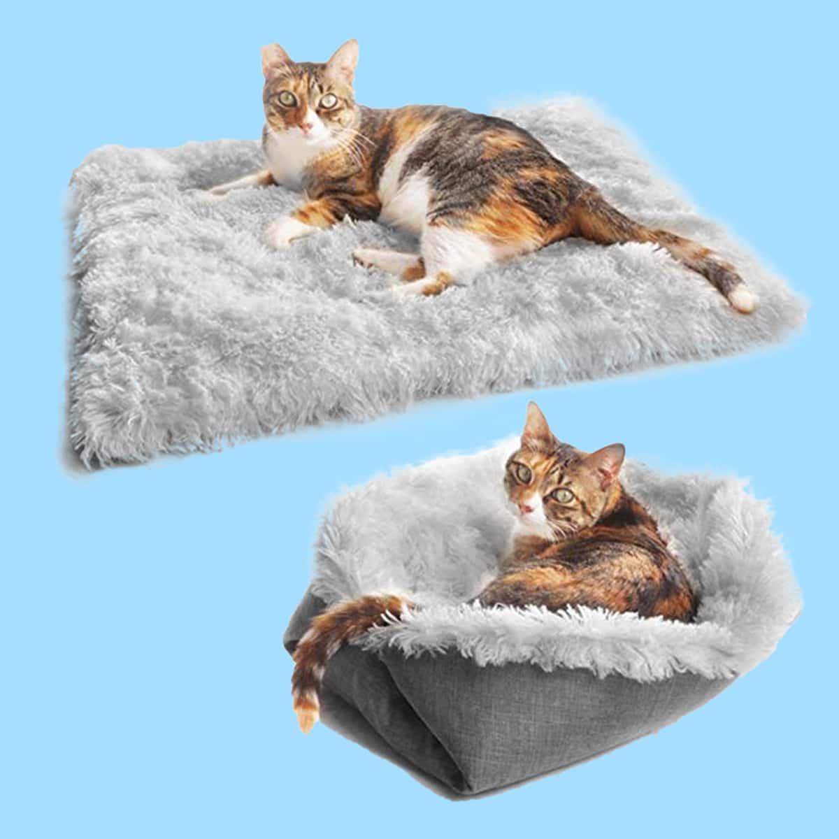 1 pièce Tapis de couette convertible pour chat