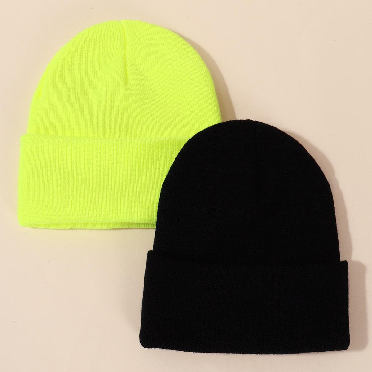 2 Stücke Kinder Neon Lime Mütze