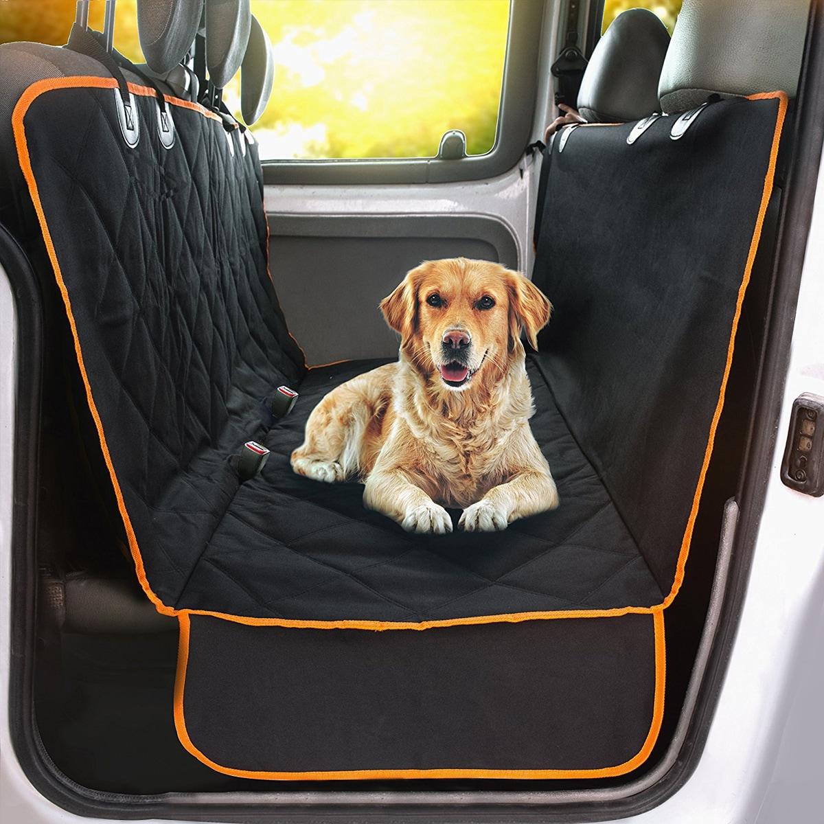 Gesteppter Autositzbezug für Hunde
