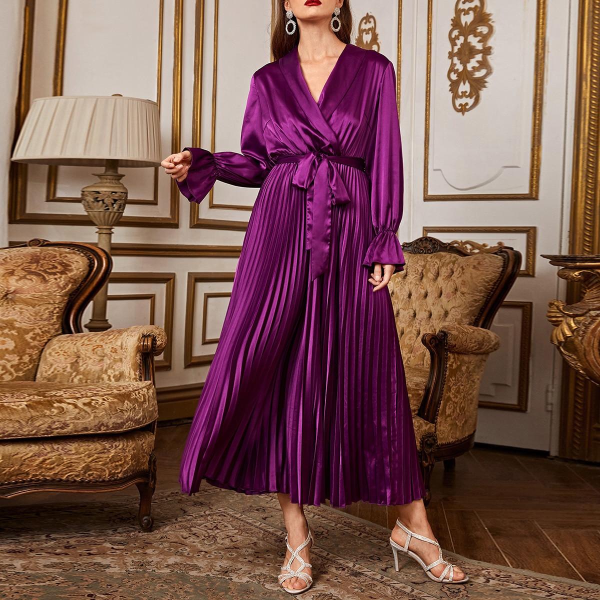 С воланами одноцветный очаровательный арабская одежда