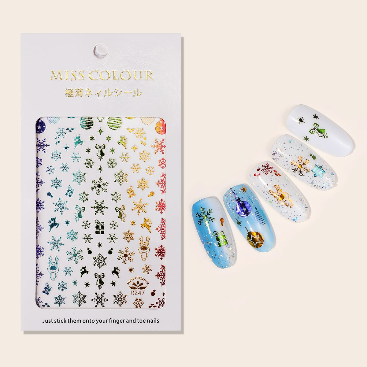 1sheet Christmas Snowflake Nail Art Sticker, SHEIN  - buy with discount
