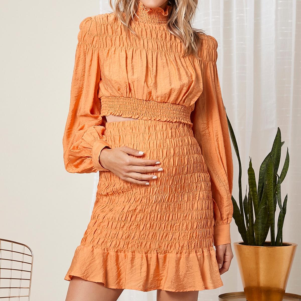 Низ-оборка ровный цвет бохо комплекты для беременных