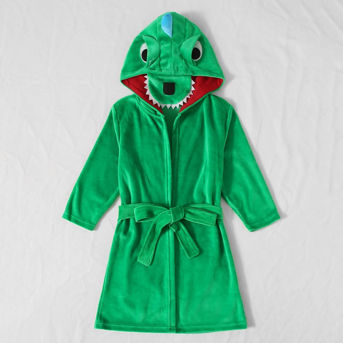 с поясом Мультяшный принт милый Домашняя одежда для мальчиков