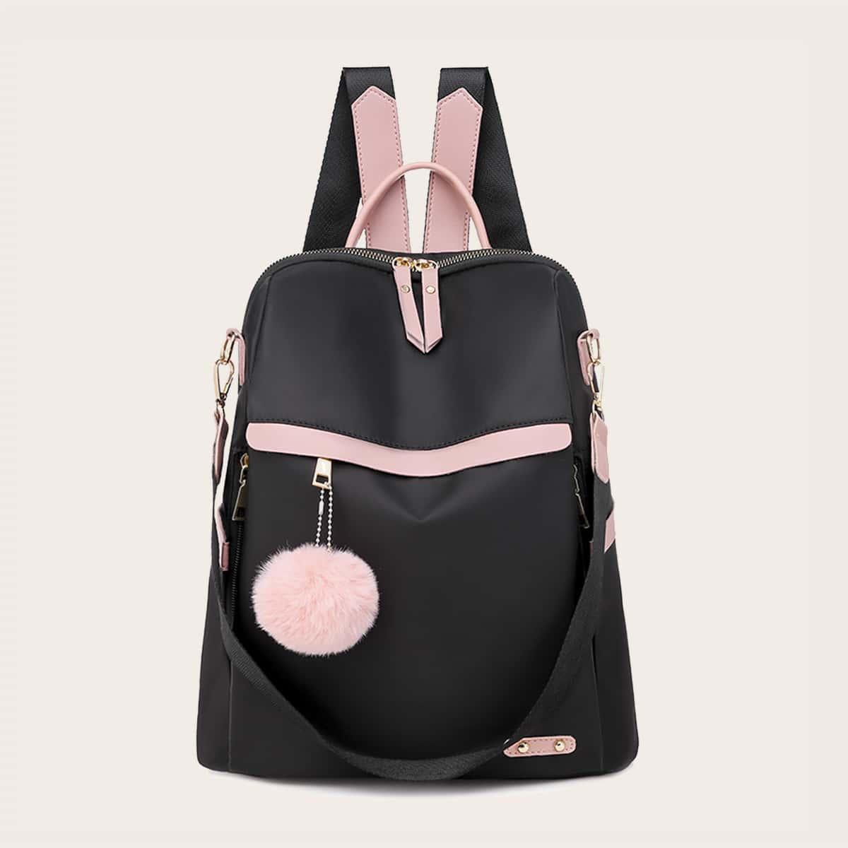Рюкзак на молнии с помпоном