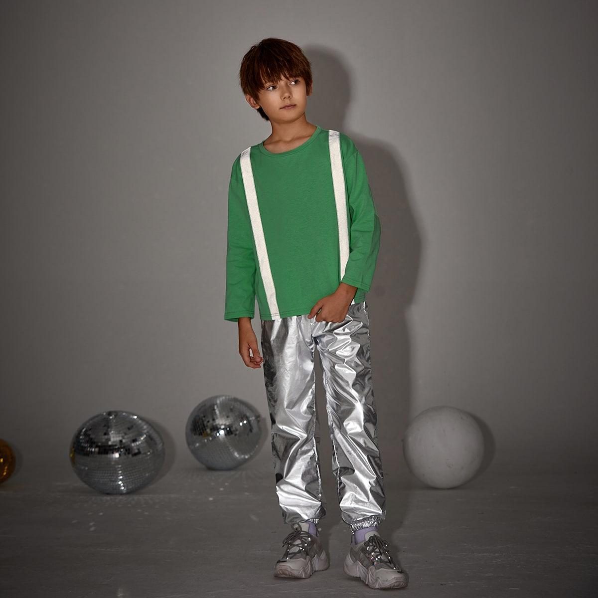 Карман контрастный цвет повседневный комплекты для мальчиков