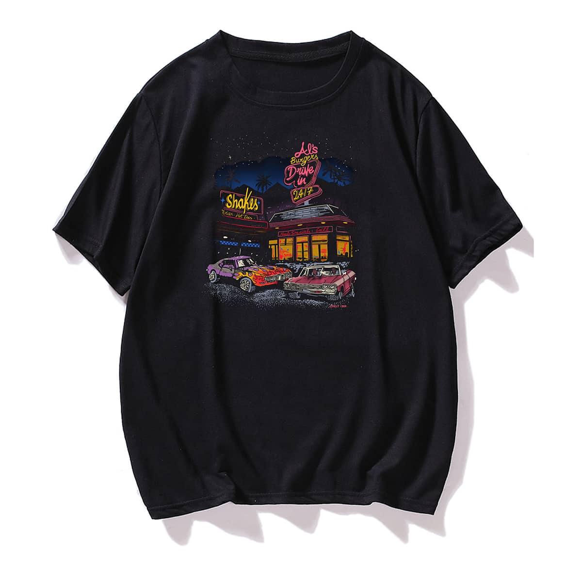 Графический Институтский Мужские футболки
