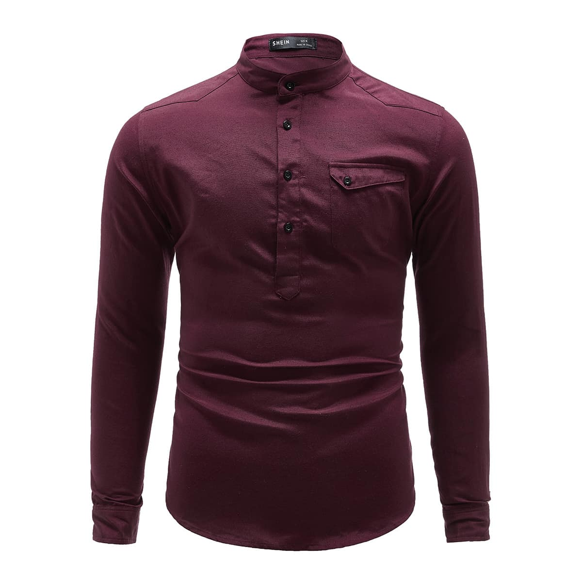 Пуговица одноцветный повседневный мужские рубашки