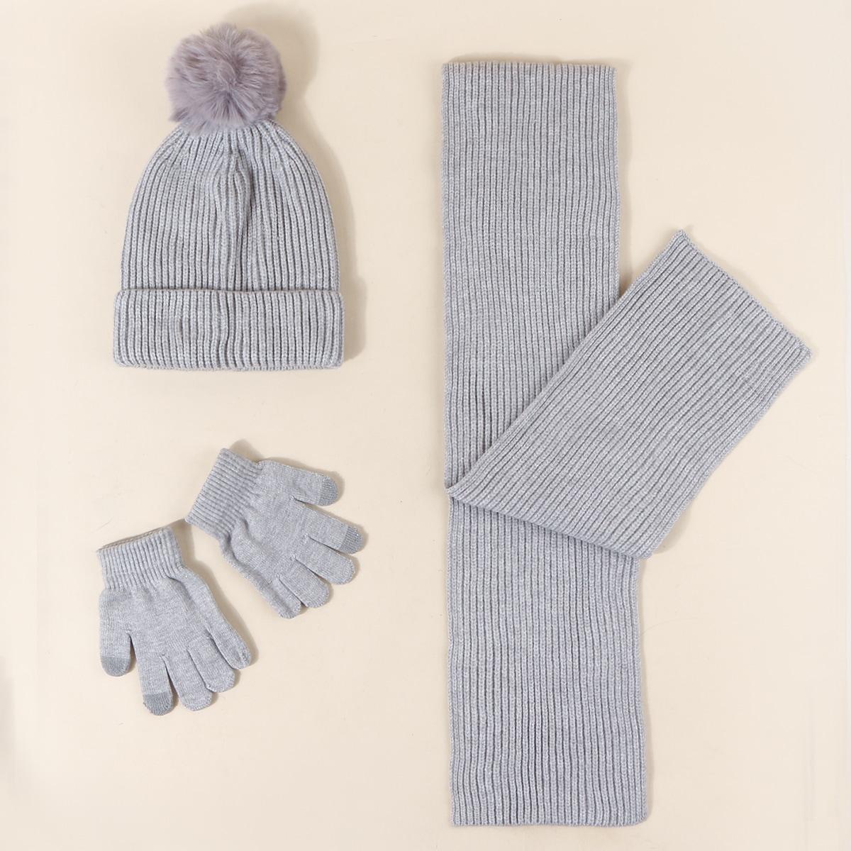 1 Stück Kleinkind Mütze & 1 Paar Handschuhe & 1 Stück Schal
