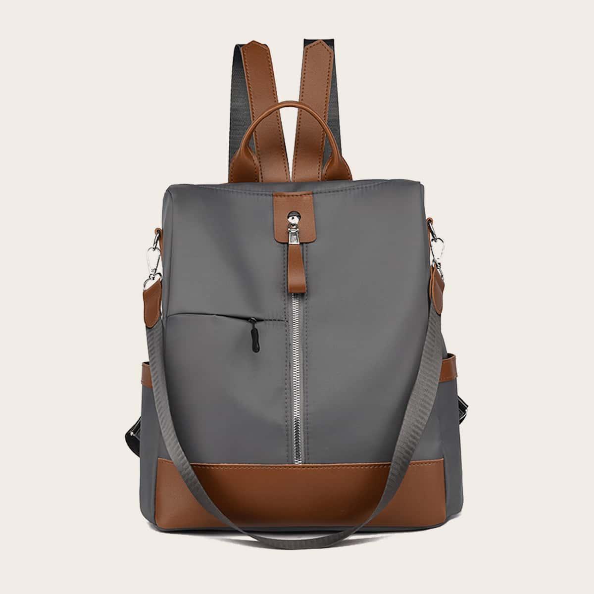 Двухцветный рюкзак на молнии