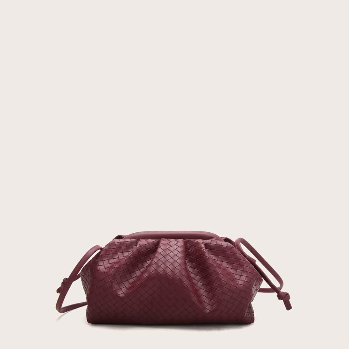 Плетеная сумка со сборками