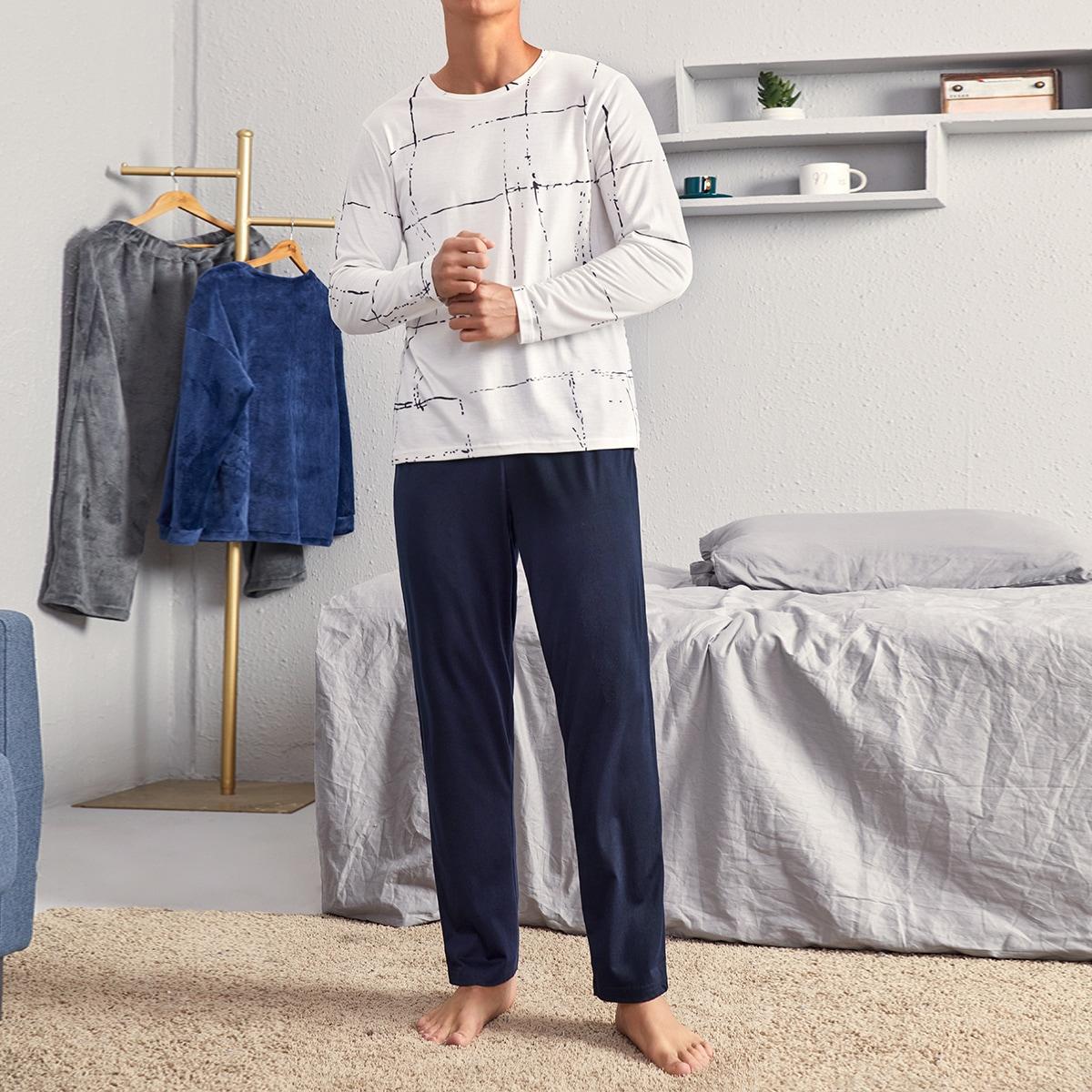 Мужская пижама в принтом