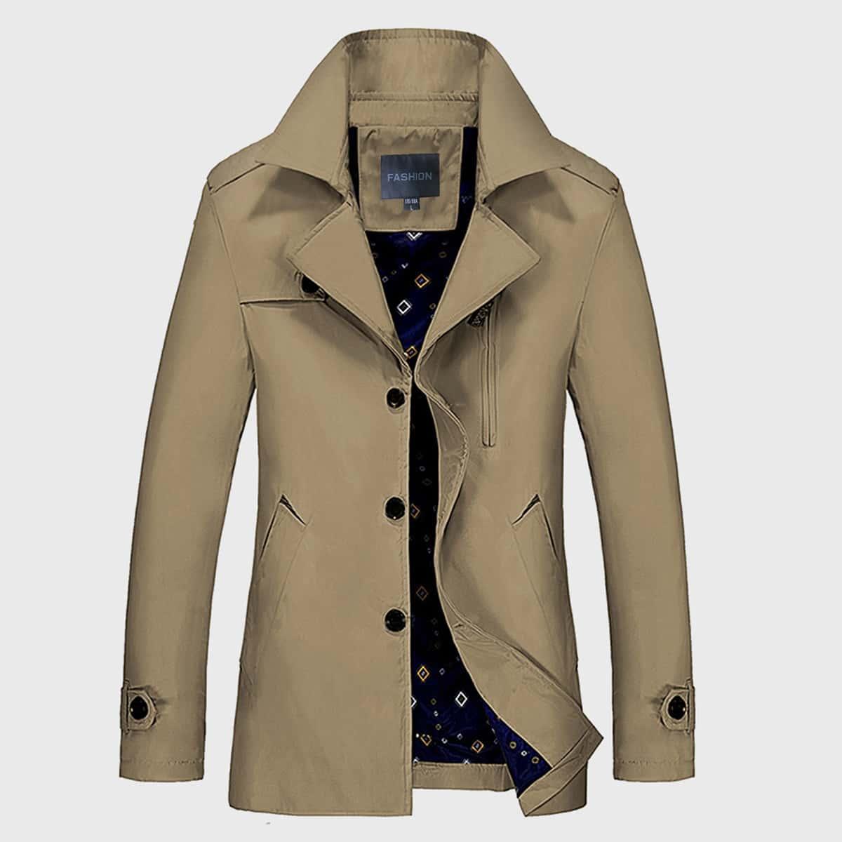 Мужское однобортное пальто