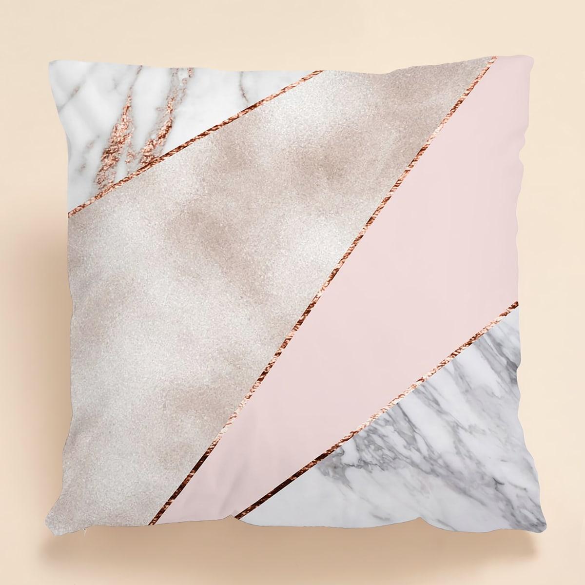 Kissenbezug mit Marmor Muster ohne Fülle