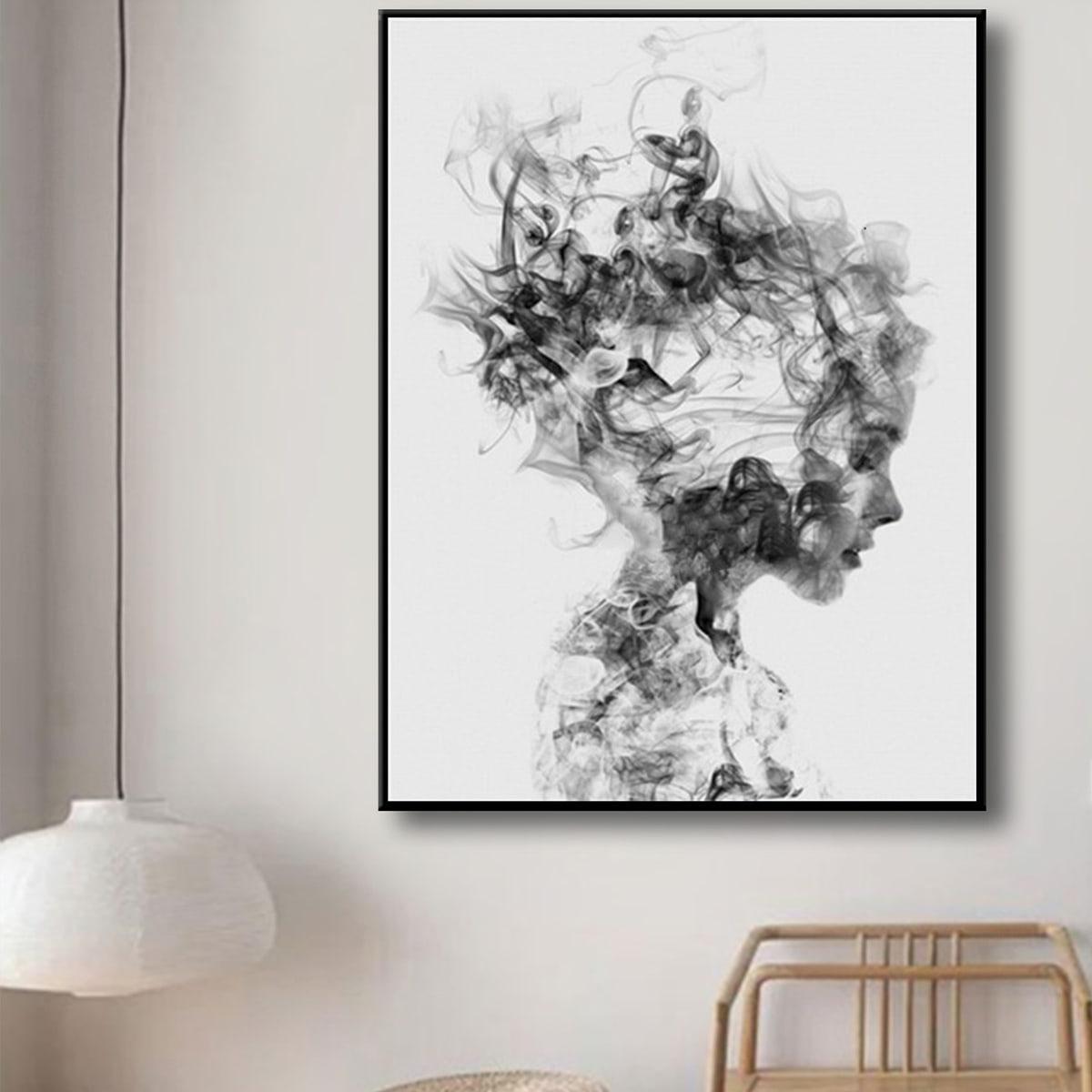 Алмазная картина с графическим рисунком без рамки