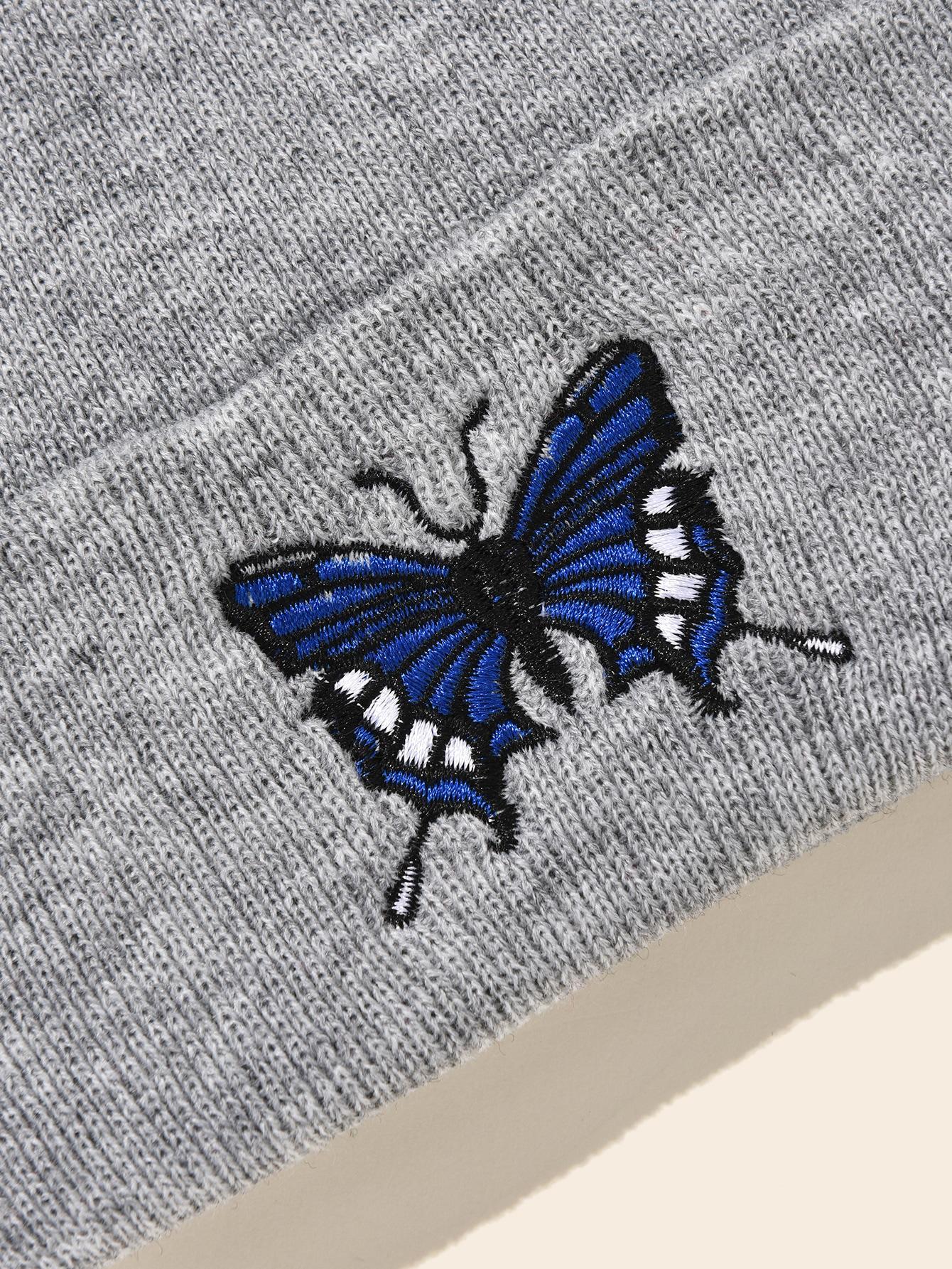 Doitsa Cotton Hat Fashion Frau Baseballm/ütze Schmetterlings-Stickerei-Muster Sonnenhut Hip Hop-Hut Sommer-Hut Sch/öne sporte Erholung Wei/ß zu Reisen