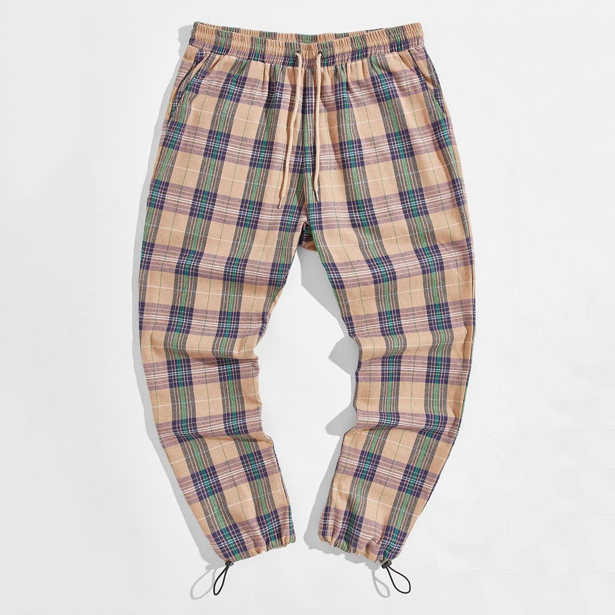 Карман в клетку институтский мужские брюки