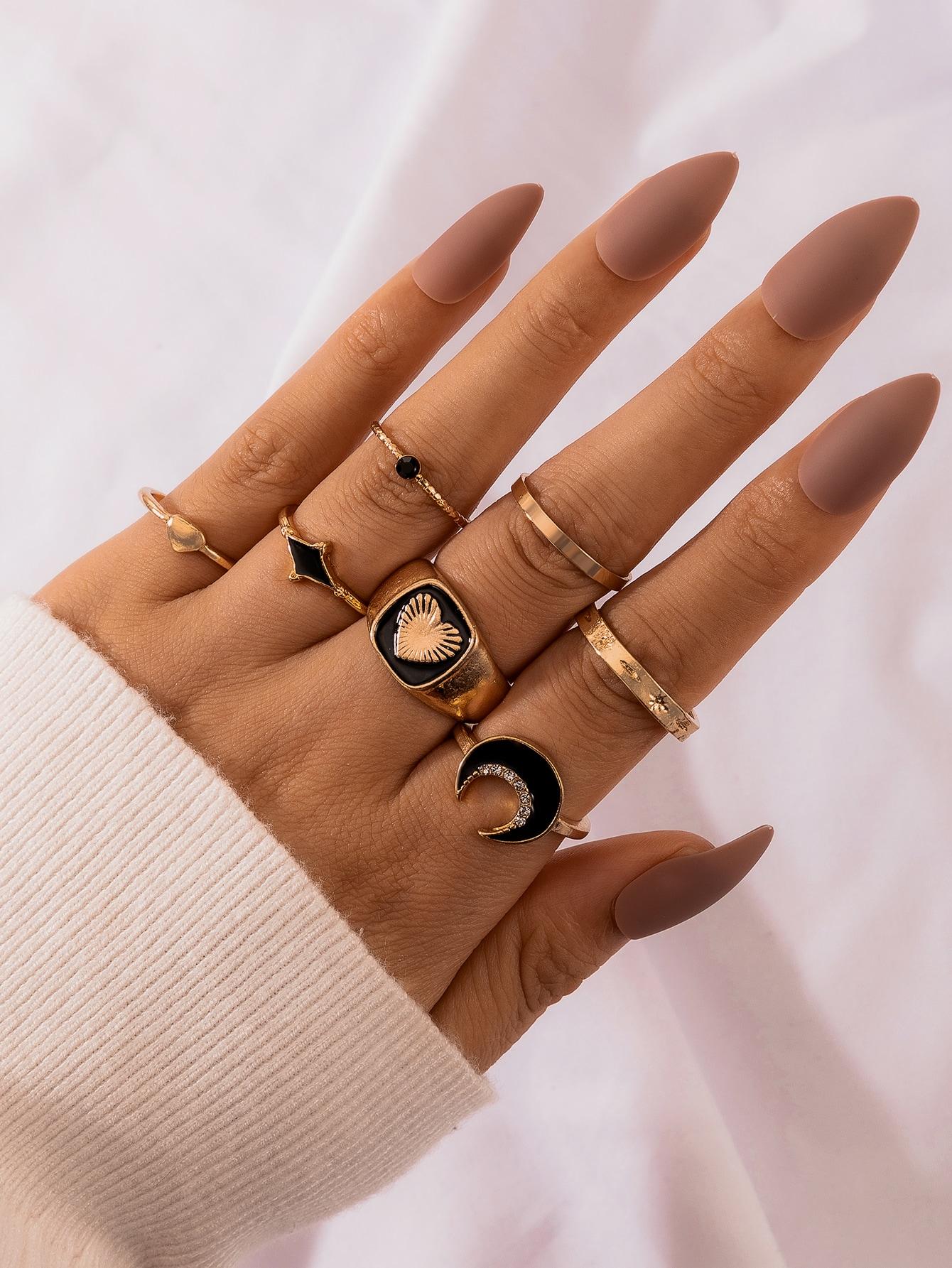 7pcs Moon Design Ring thumbnail
