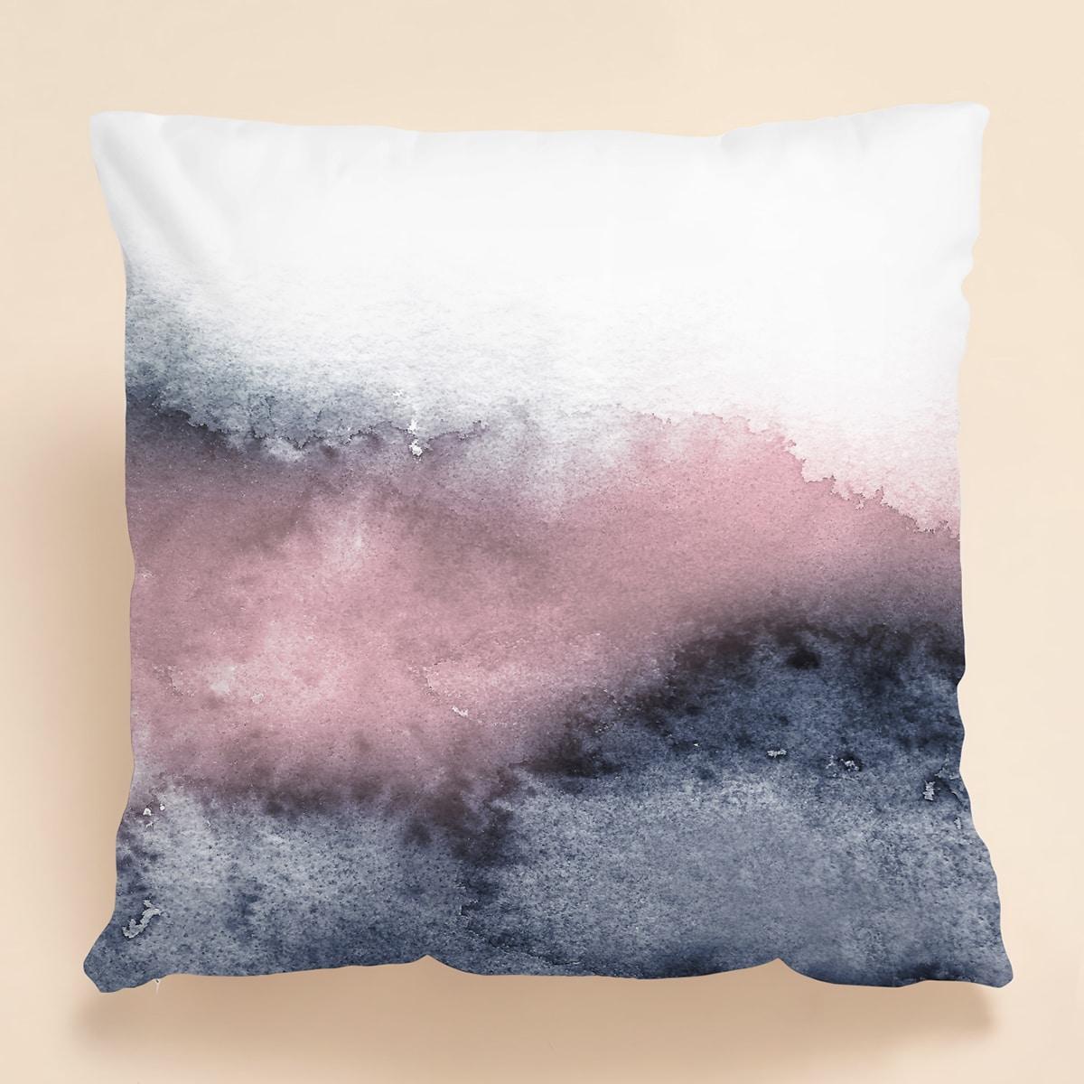Kissenbezug mit Wasserfarbe Muster ohne Fülle