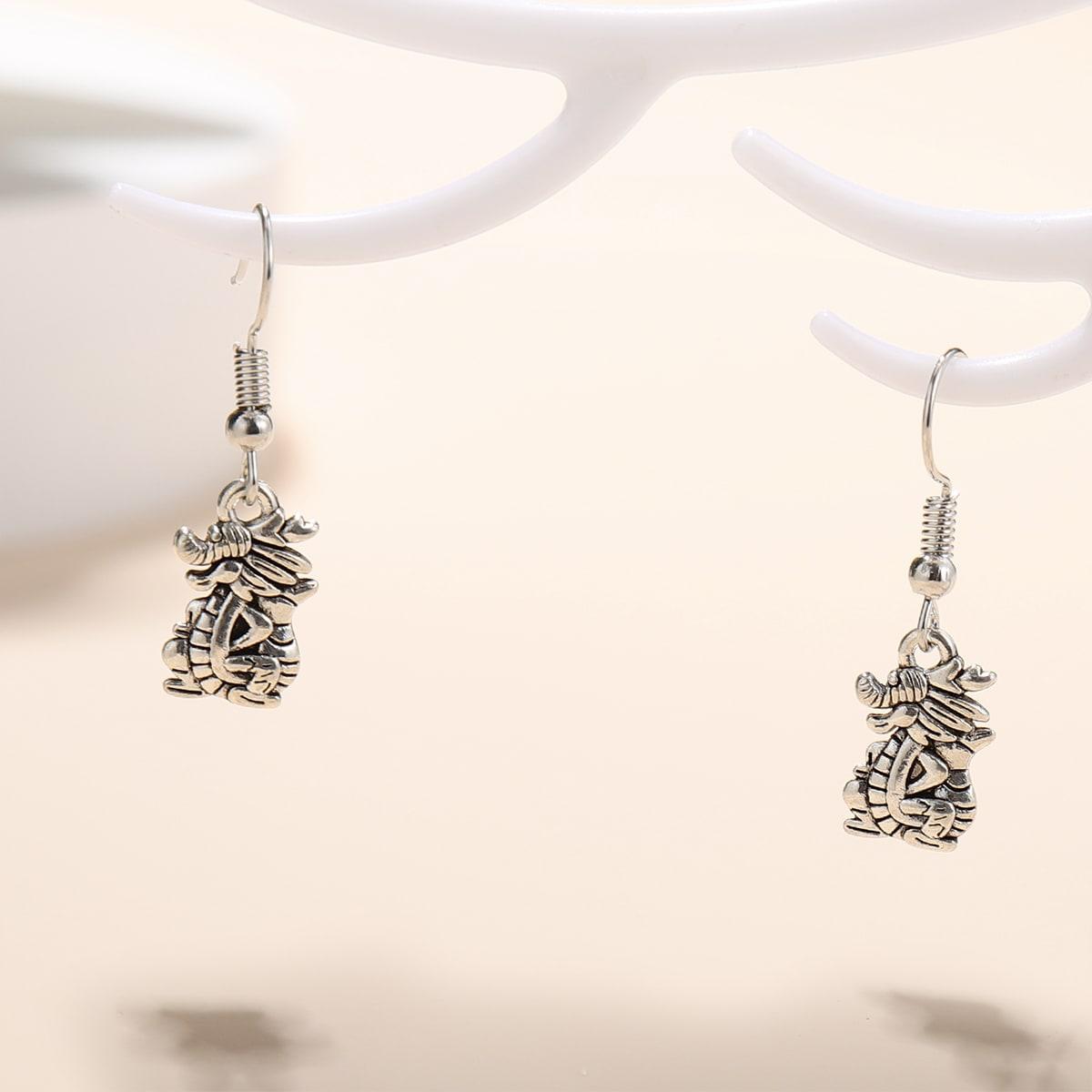 Metal Animal Drop Earrings, SHEIN  - buy with discount