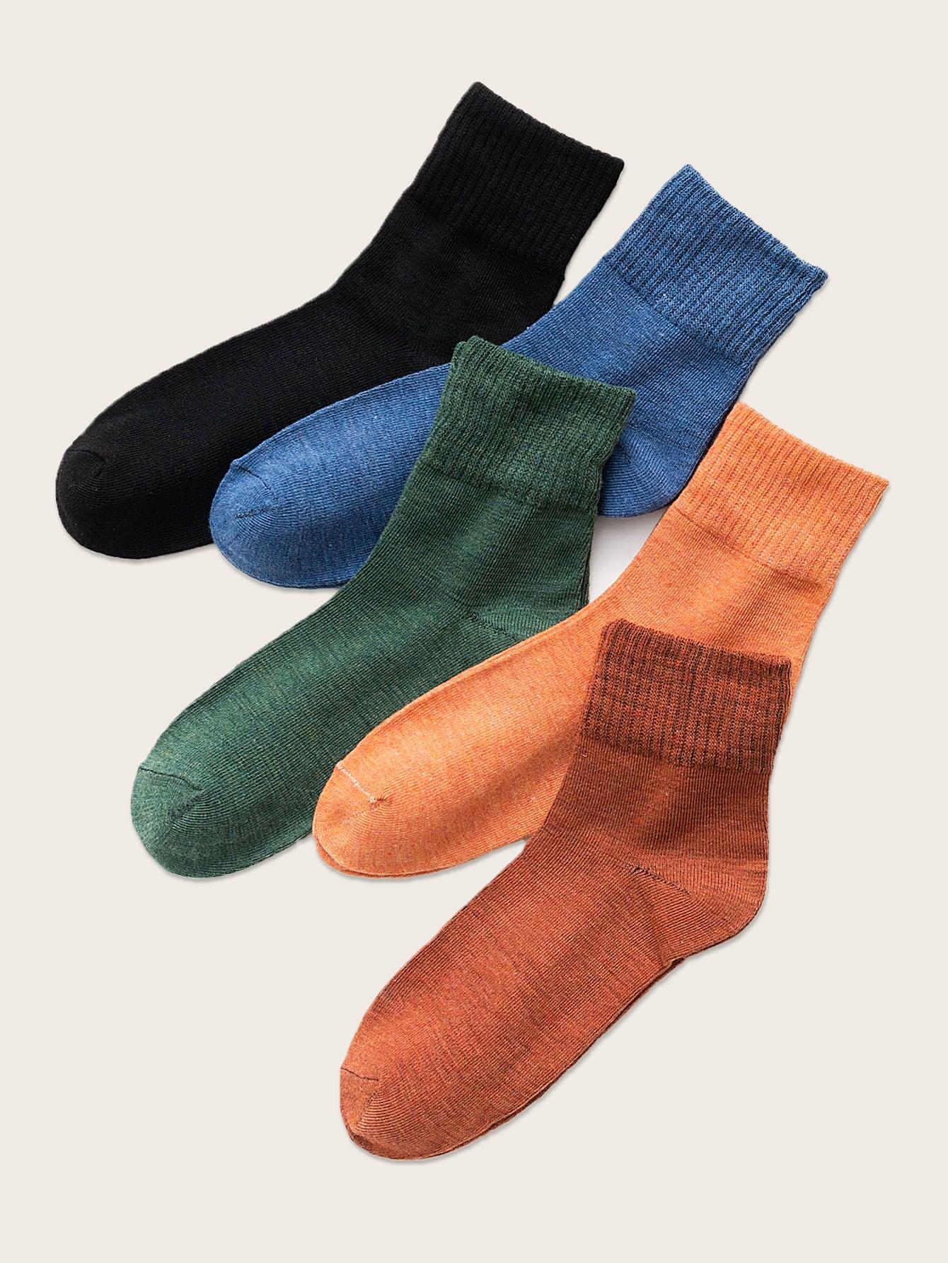 5pairs Simple Crew Socks thumbnail