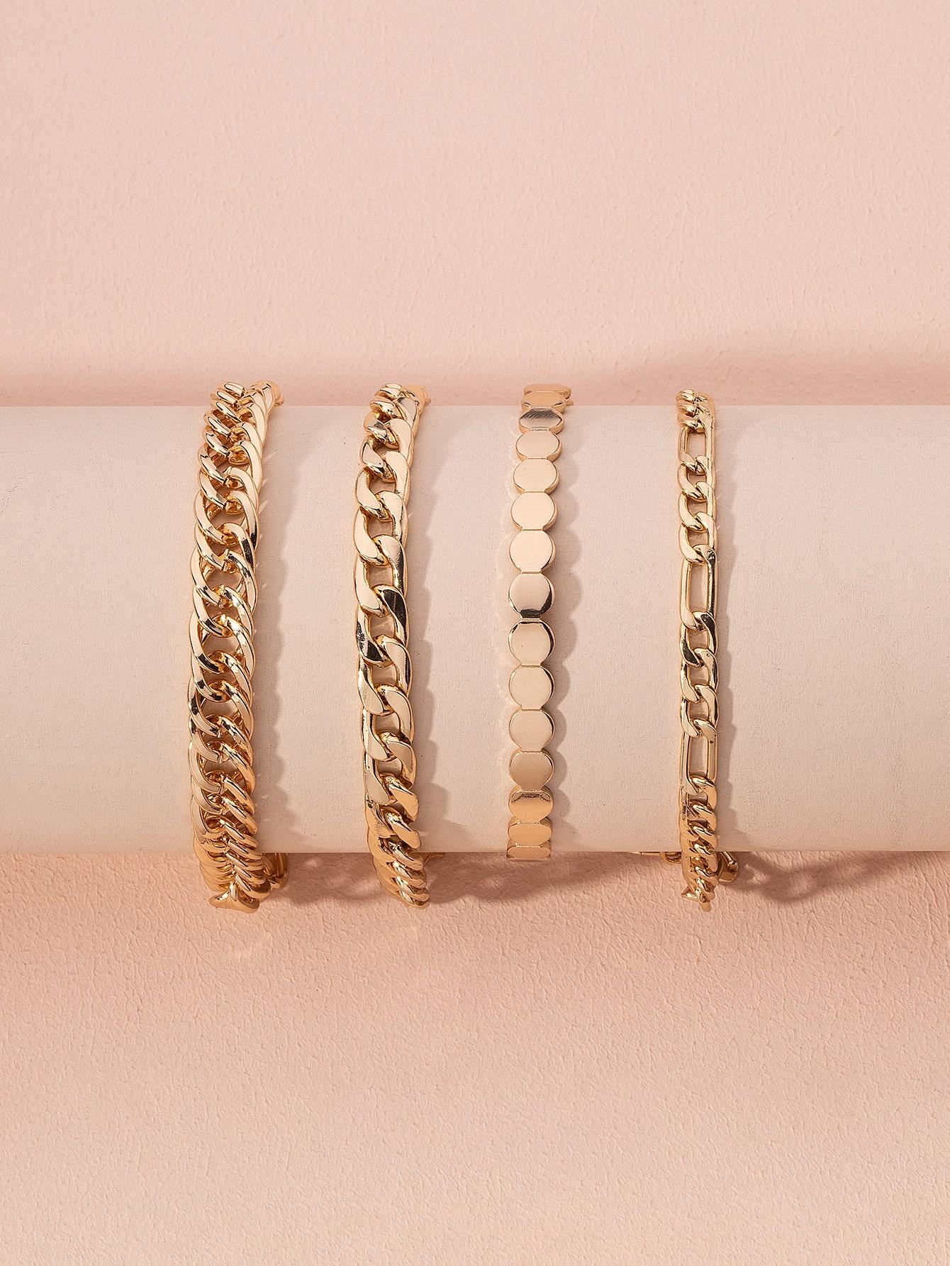 4pcs Simple Chain Bracelet thumbnail