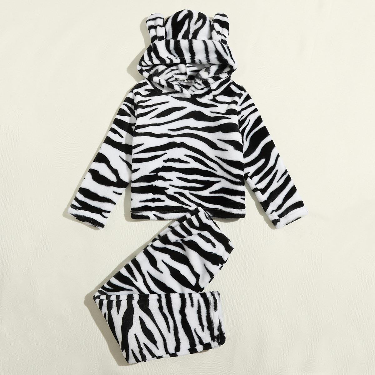 зебра-полосатый принт милый Домашняя одежда для мальчиков