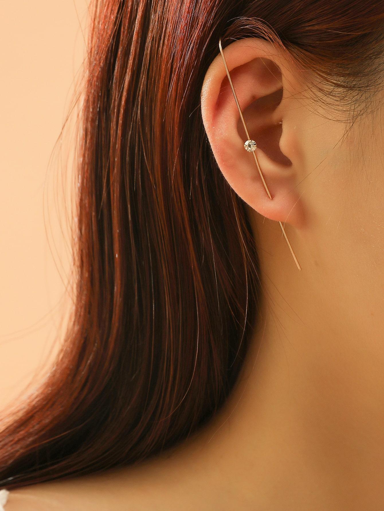 1pc Rhinestone Decor Ear Cuff thumbnail