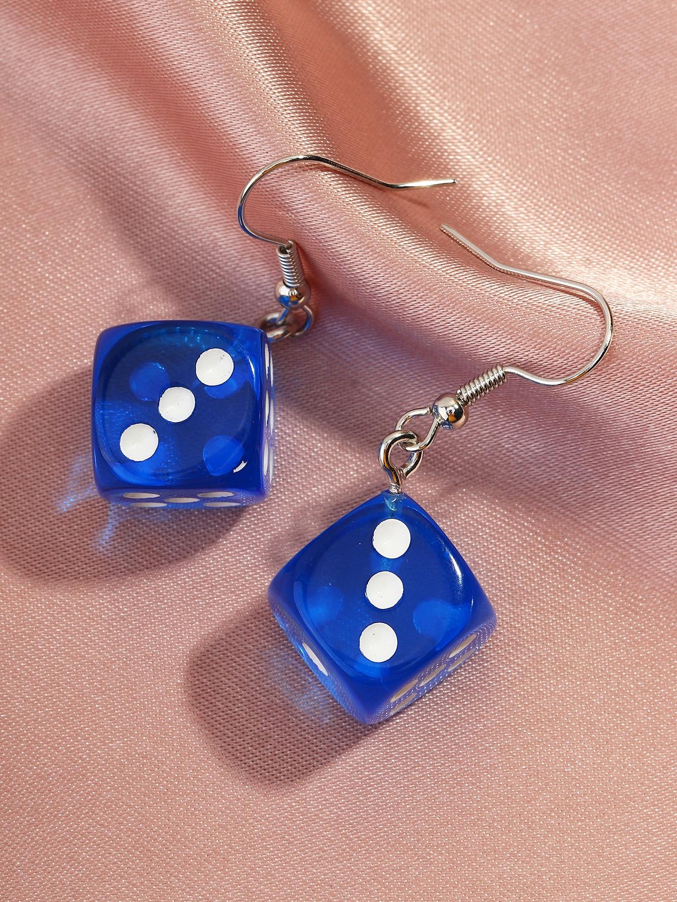 Dice Charm Drop Earrings thumbnail