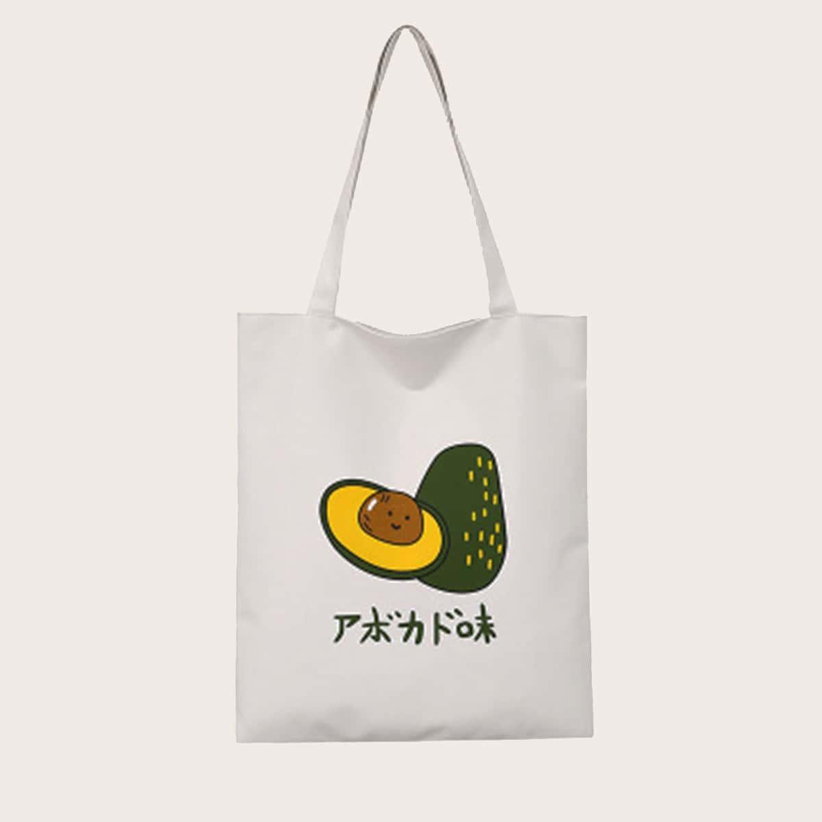 Сумка-шоппер с японскими буквами