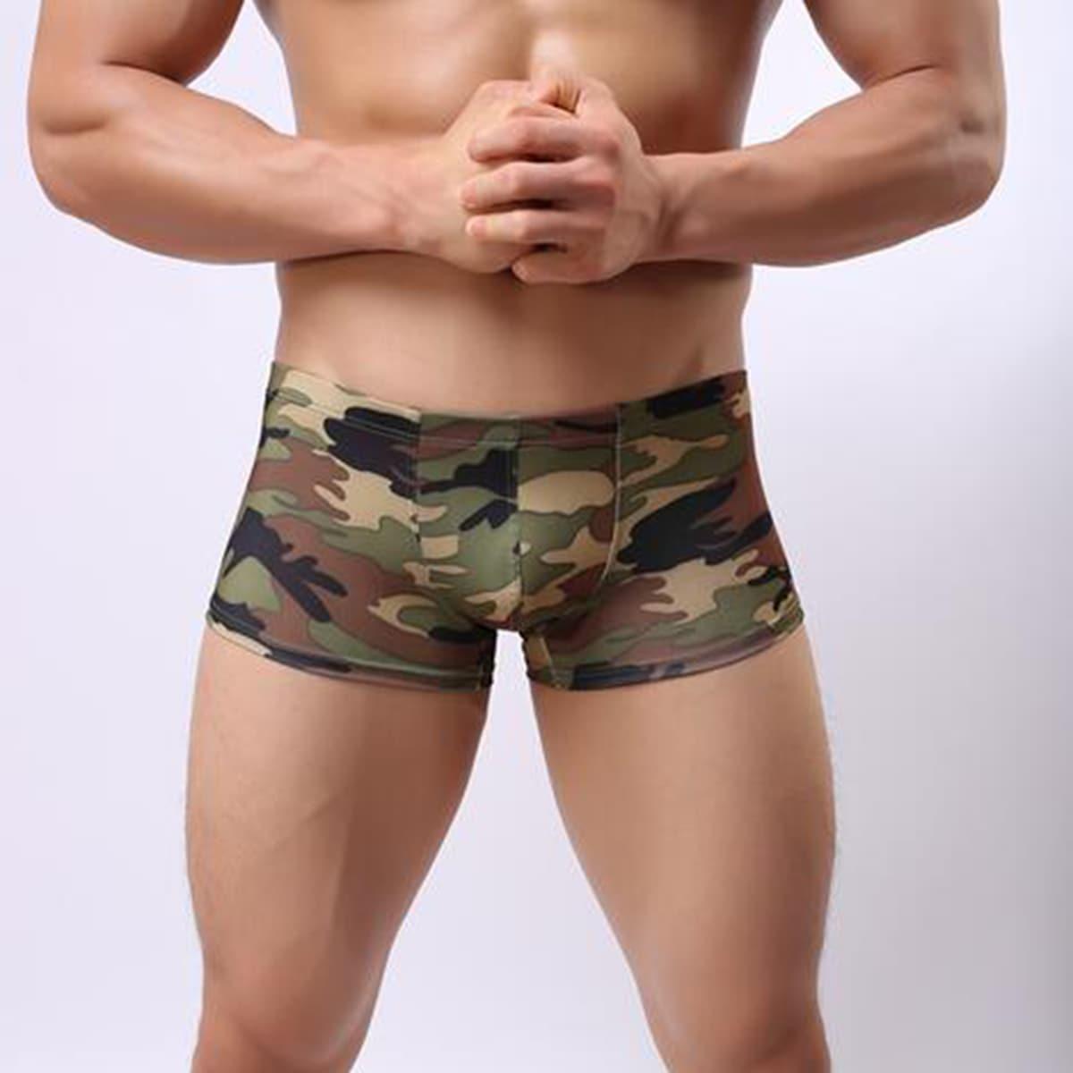 Камуфляж Повседневный Мужское нижнее белье