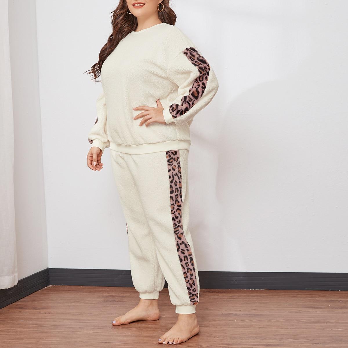 Леопард повседневный пижама размер плюс