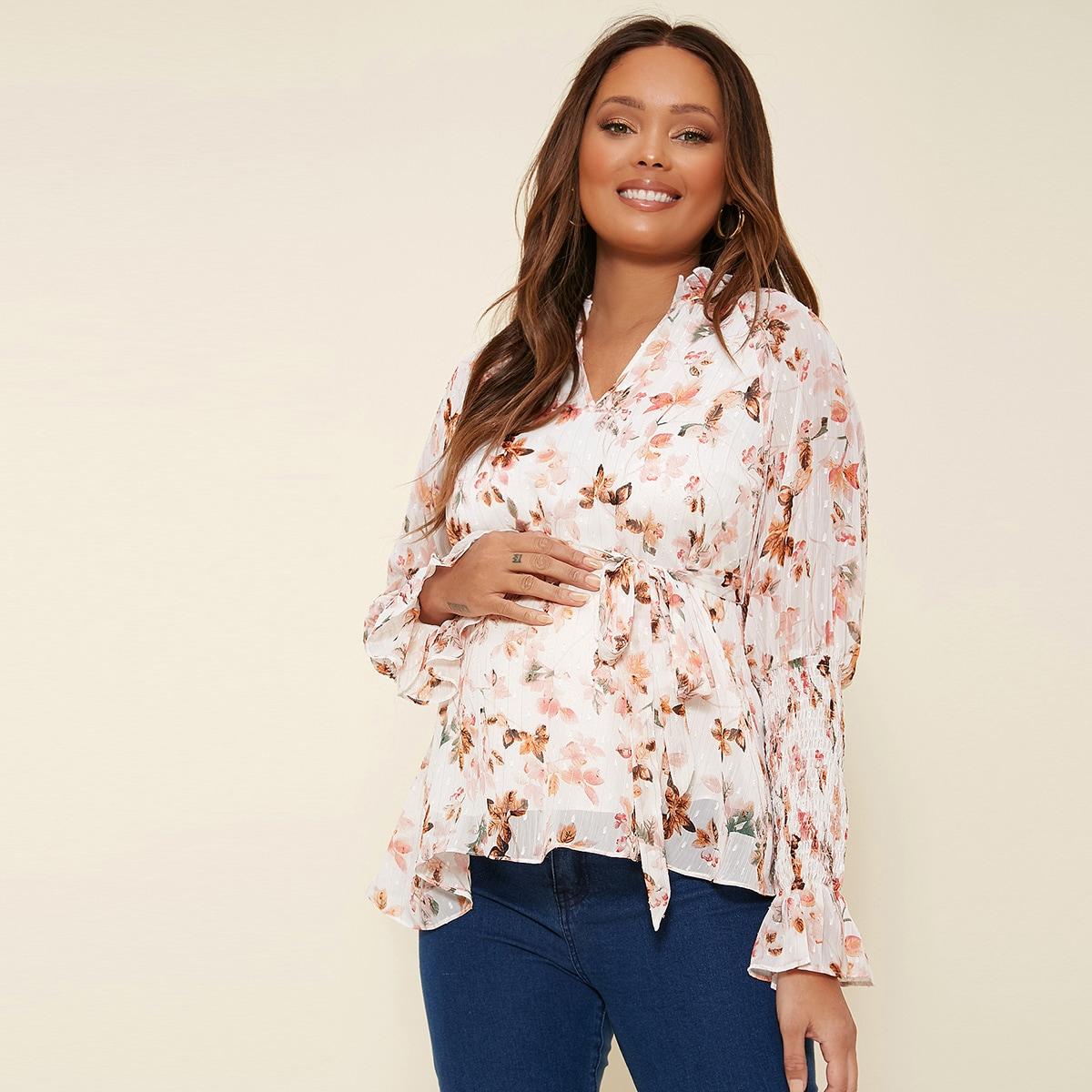 Пояс растения бохо блузы для беременных