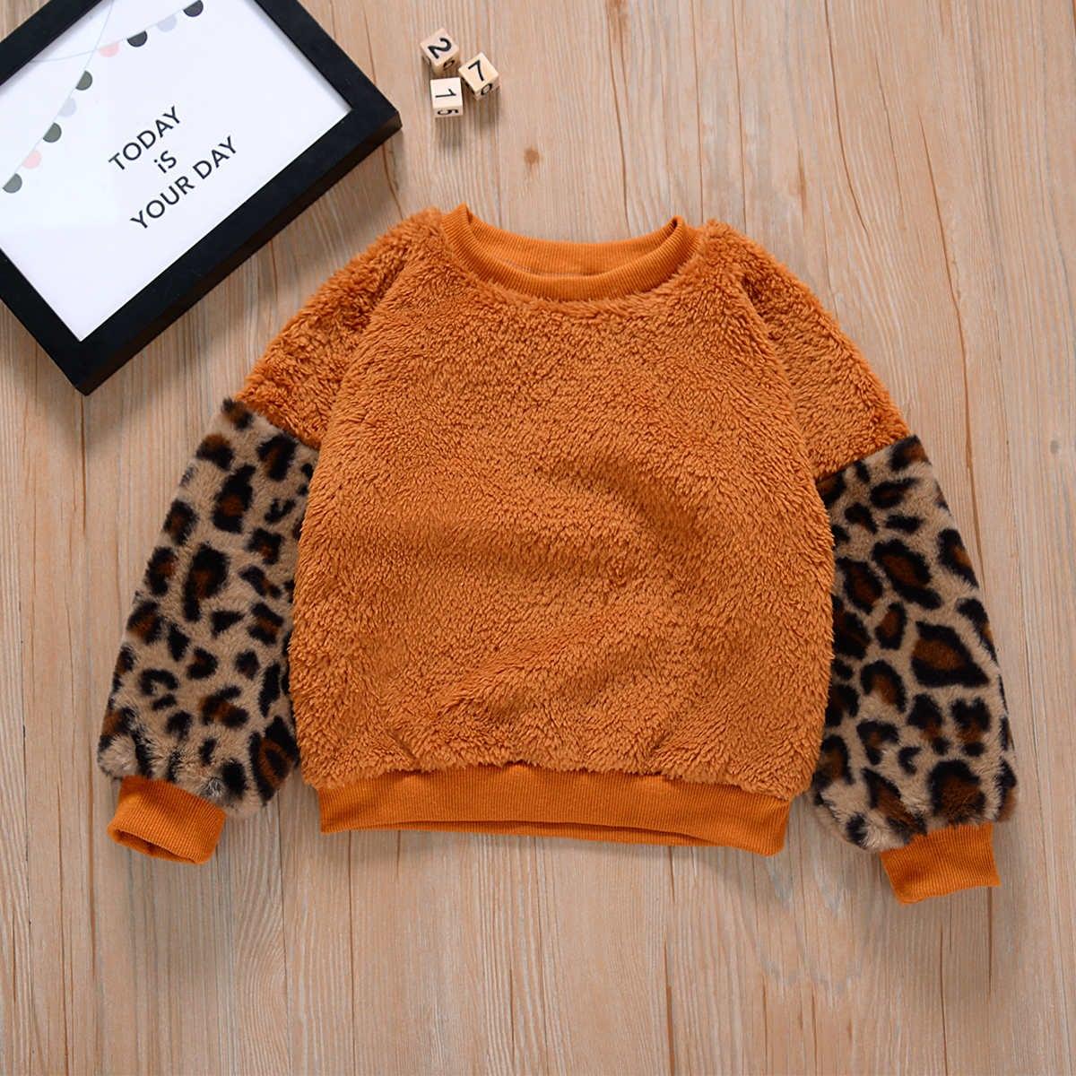 Леопард повседневный свитшоты для девочек