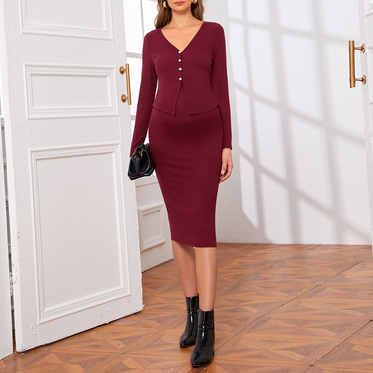Spacco  ровный цвет элегантный комплекты для беременных
