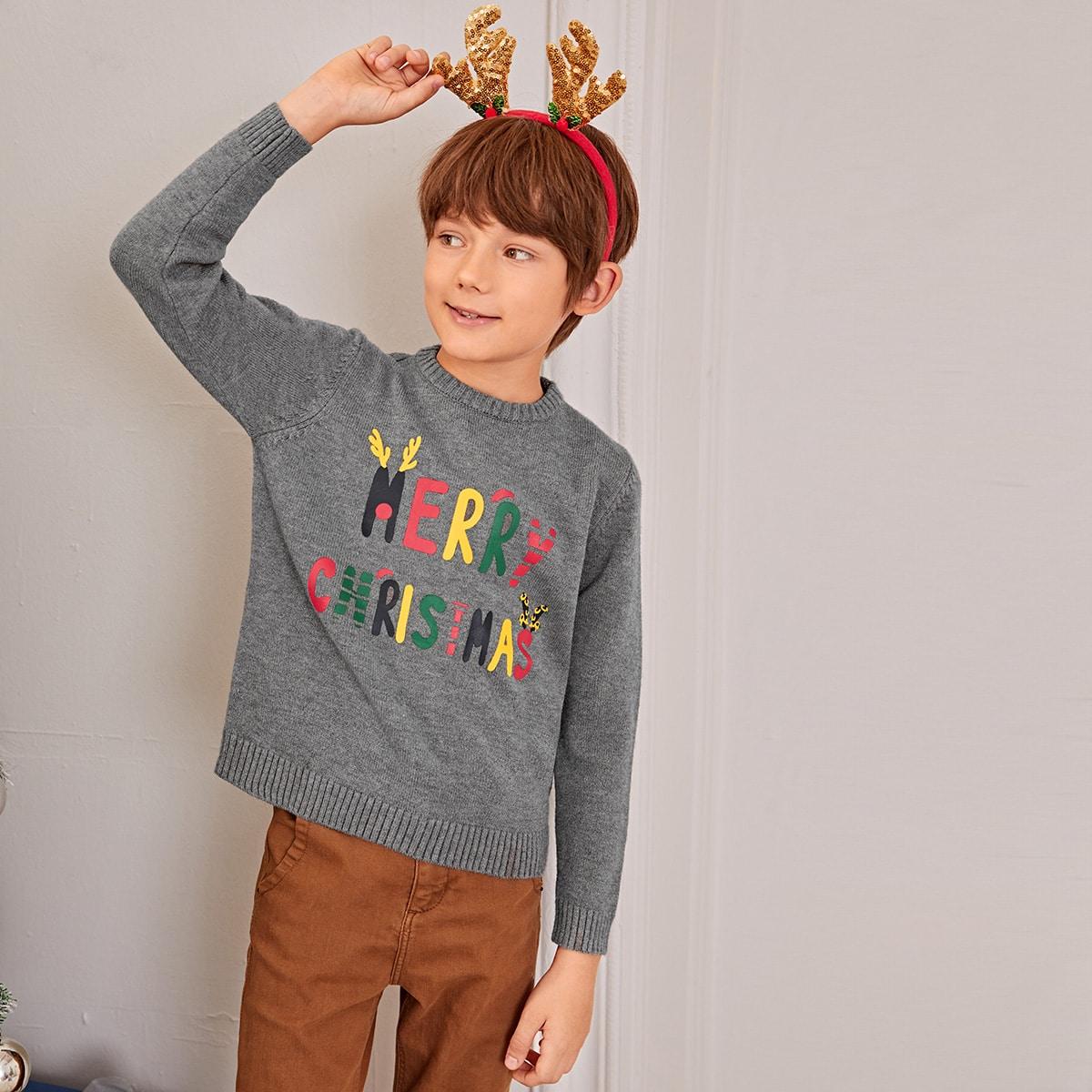 Этнический принт повседневный свитеры для мальчиков