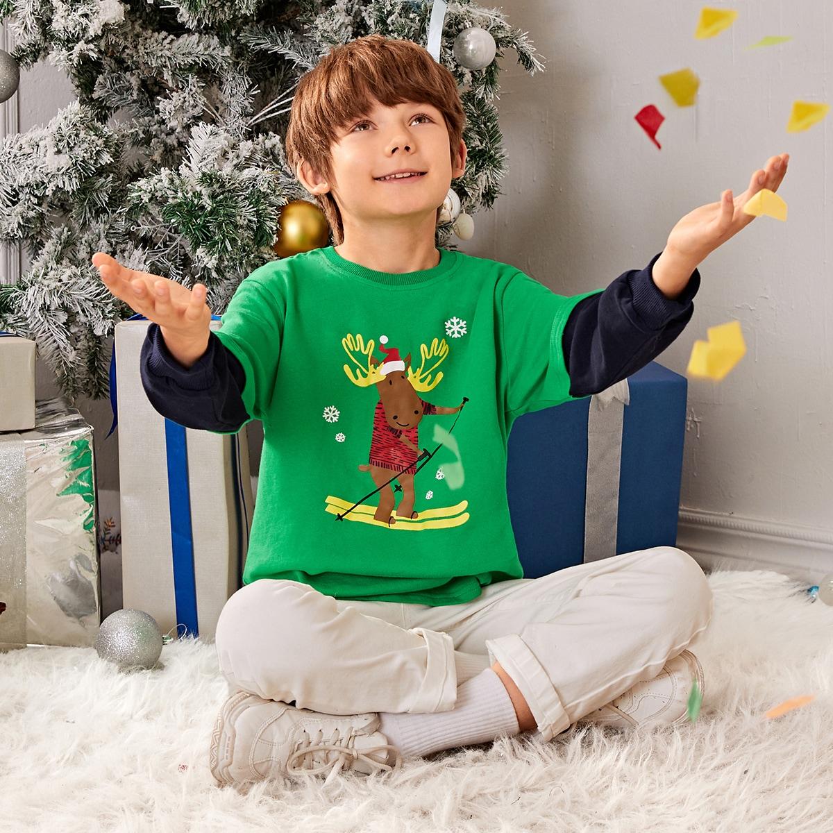 Рождество повседневный толстовки для мальчиков