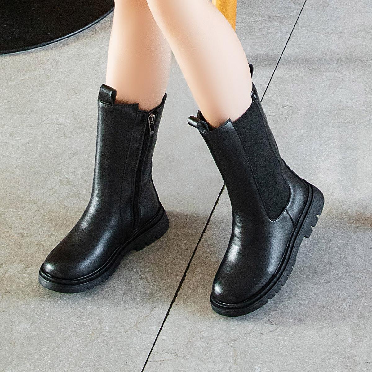 Ботинки челси на молнии сбоку для девочек