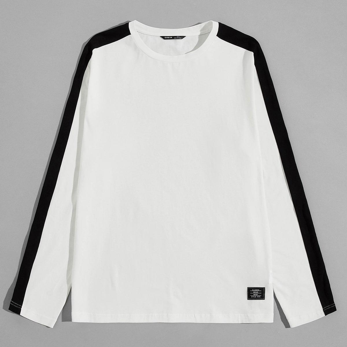 Аппликация текст институтский мужские футболки