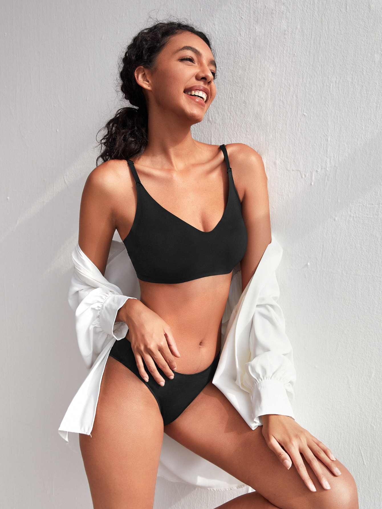 Solid High Stretch Seamless Bra thumbnail