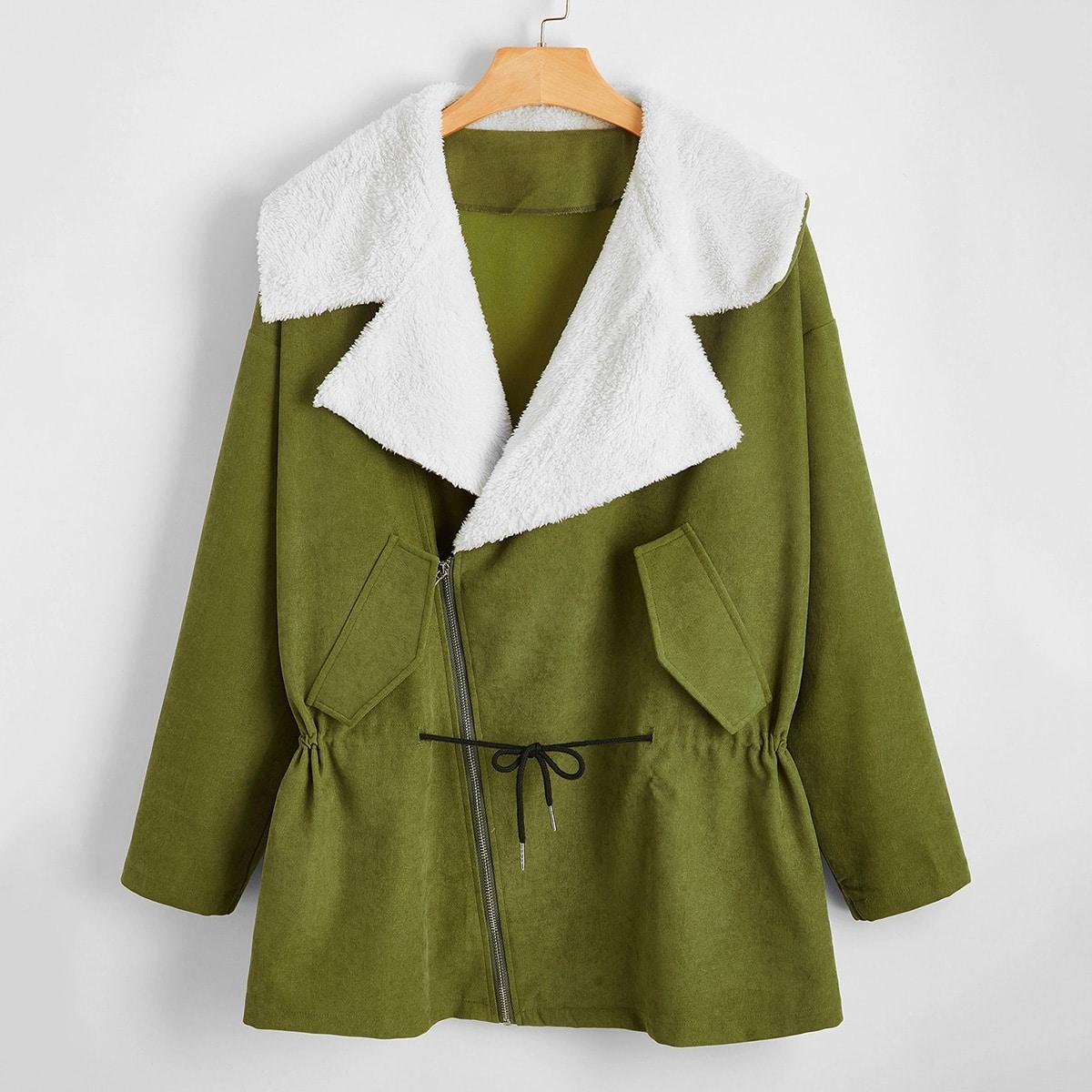 На кулиске повседневный плюс размеры пальто